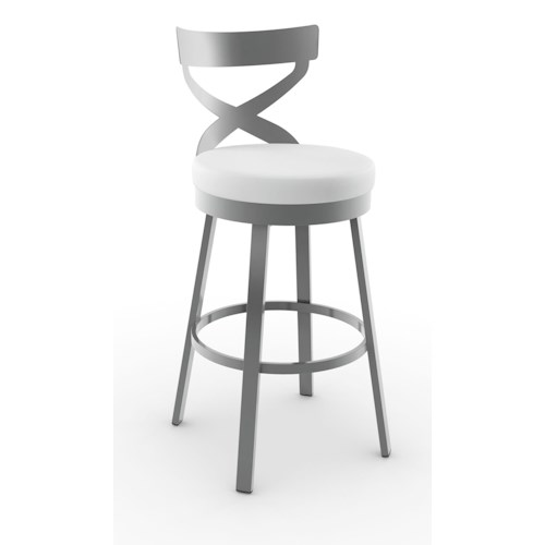 Amisco Stools Lincoln Swivel Stool with Padded Seat