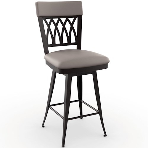 Amisco Stools Traditional Oxford Counter Stool with Swivel Seat