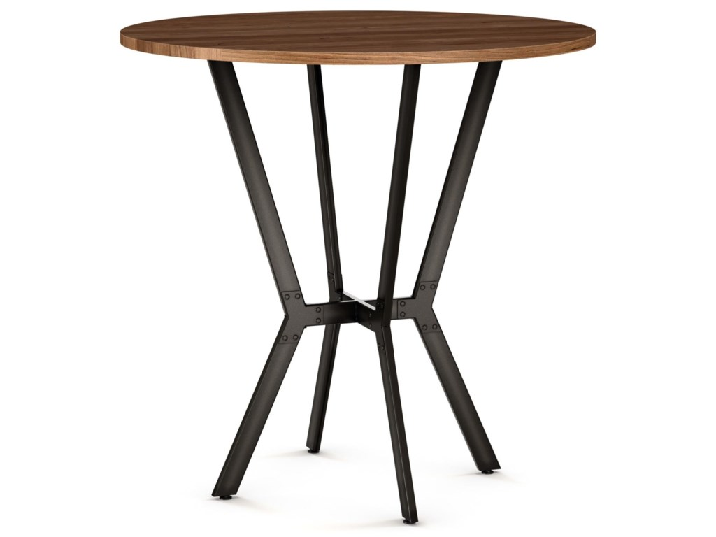 Amisco Tables Amisco Norcross Bar Table With Distressed Solid - Distressed wood pub table