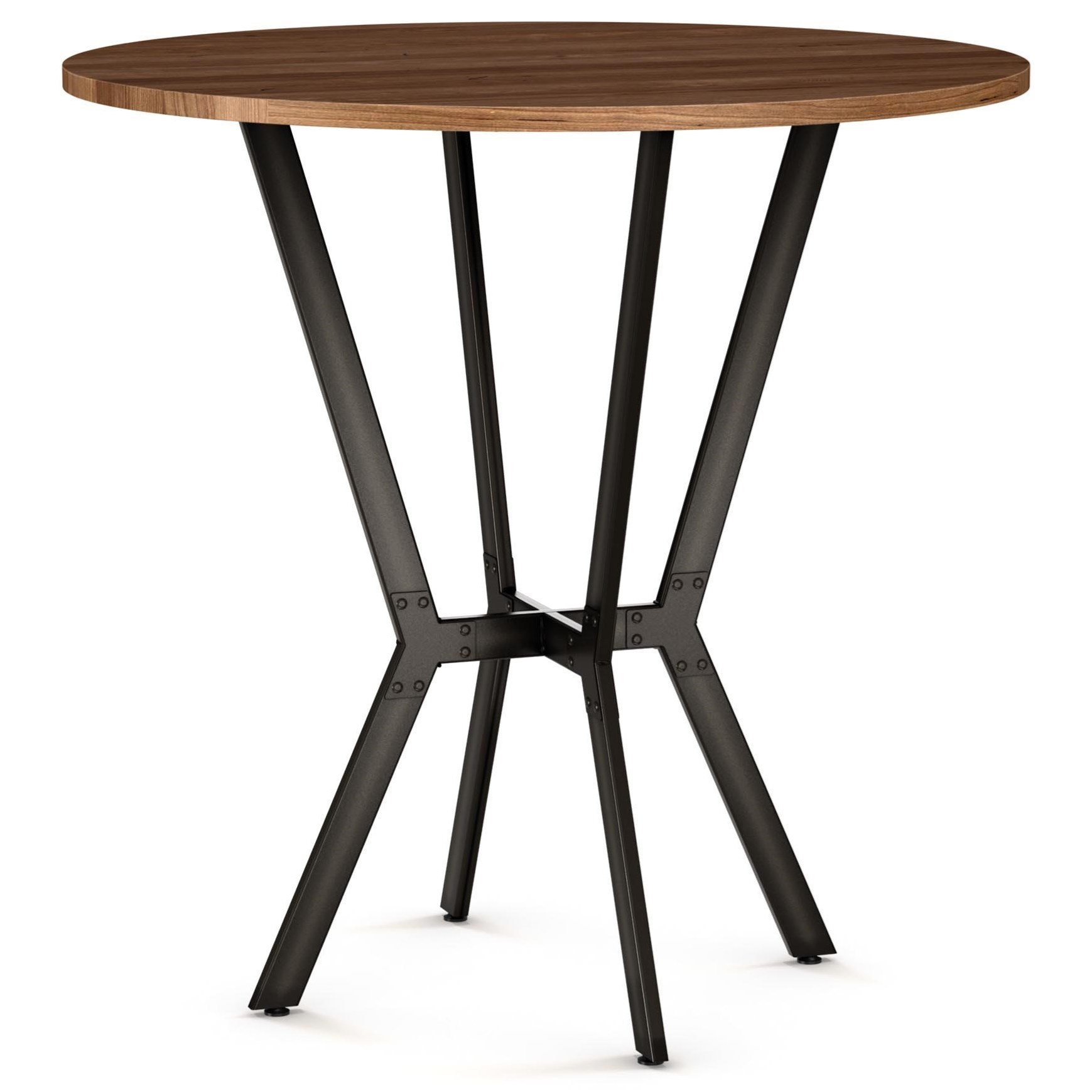 Amisco Customizable DiningNorcross Table W/ Distressed Solid Wood Top ...