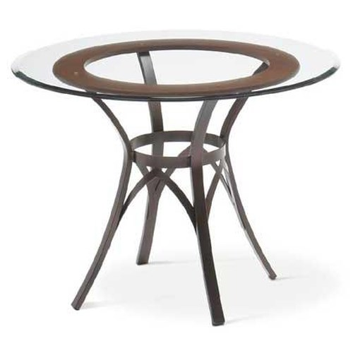 Amisco Transitions Kai Table Base and Glass Tabletop