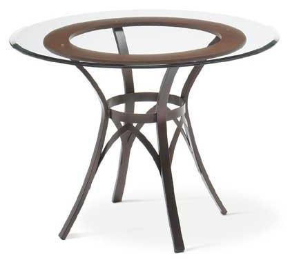 Amisco TransitionsKai Table Base and Glass Tabletop
