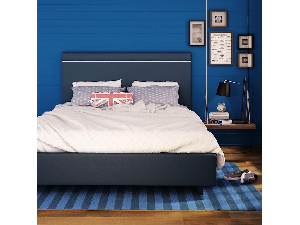 Amisco UrbanFull Breeze Upholstered Bed (Rope)