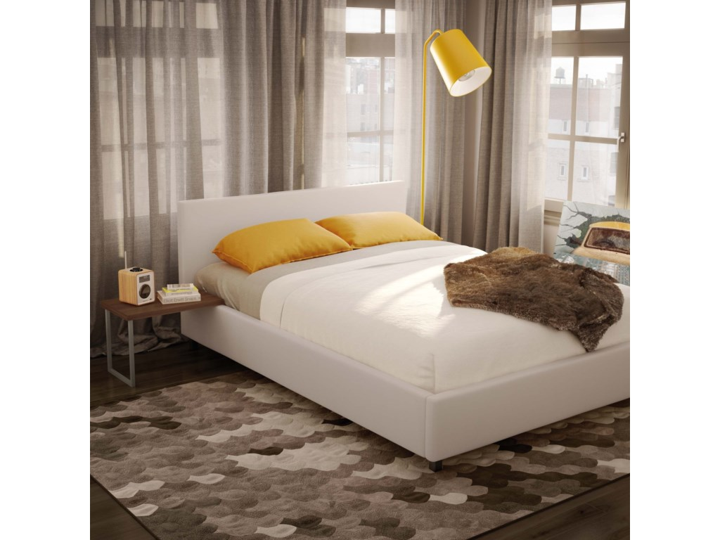 Amisco UrbanQueen Muro Storage Upholstered Bed