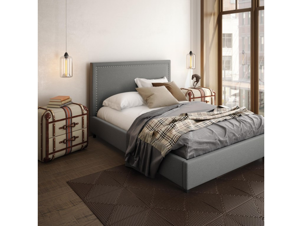 Amisco UrbanQueen Granville Upholstered Bed