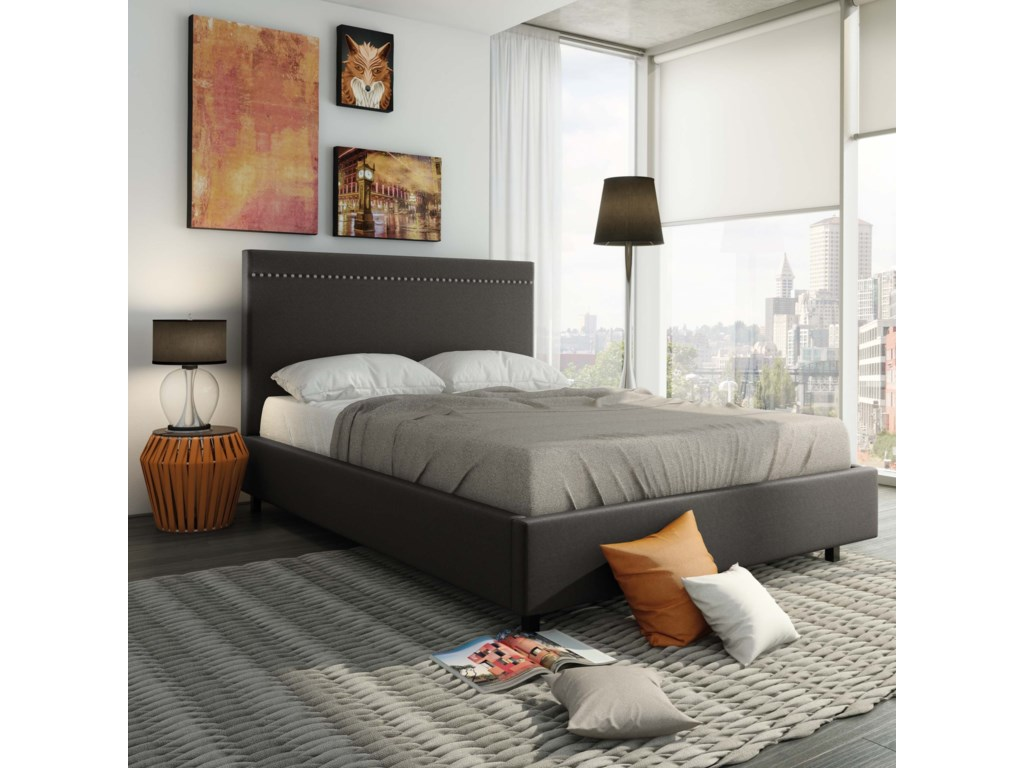 Amisco UrbanKing Gastown Storage Upholstered Bed