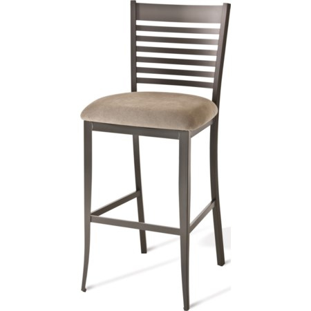 "26"" Edwin Counter Stool with Fabric Seat"