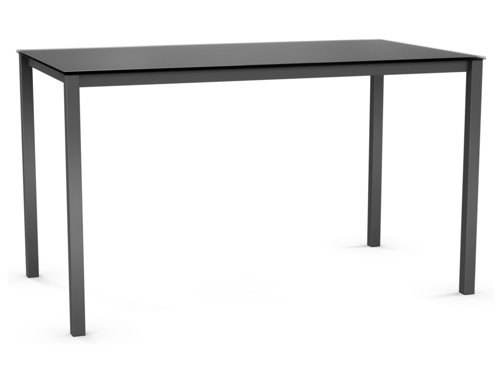 Amisco UrbanBennington Counter Table with Glass Top