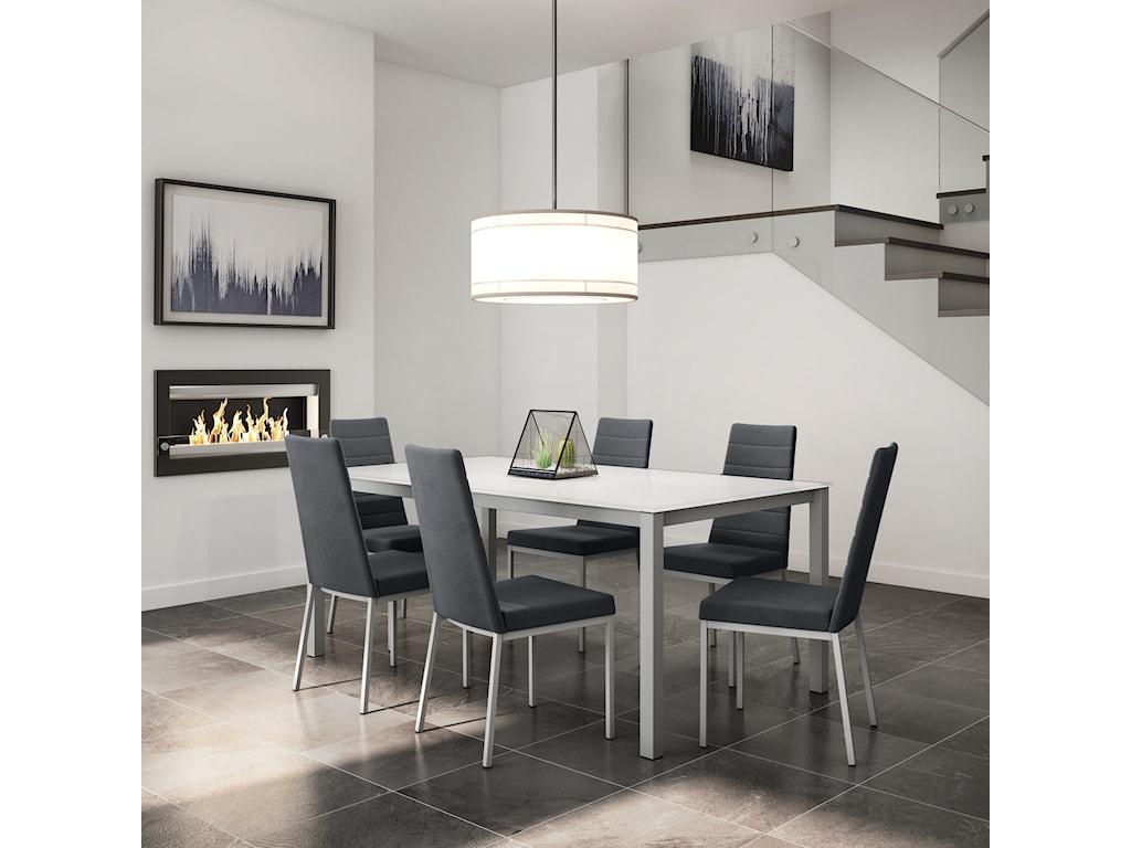 Amisco Urban7-Piece Bennington Table Set