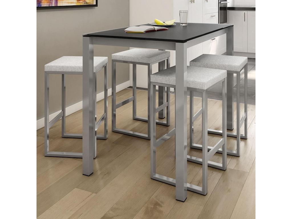 Amisco Urban5-Piece Harrison Counter Table Set