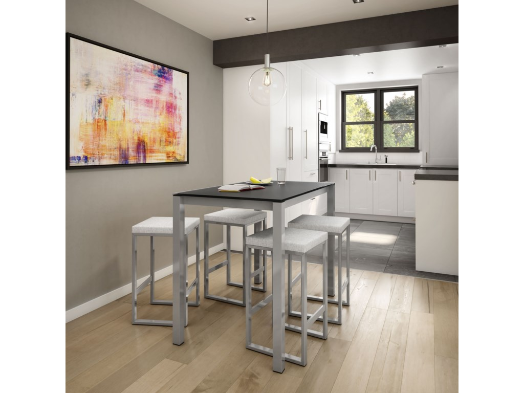 Amisco UrbanCounter Harrison Pub Table with Glass Top