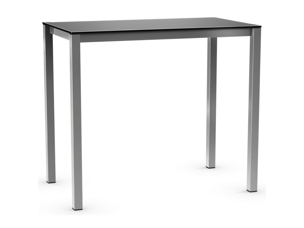 Amisco UrbanBar Height Harrison Pub Table with Glass Top