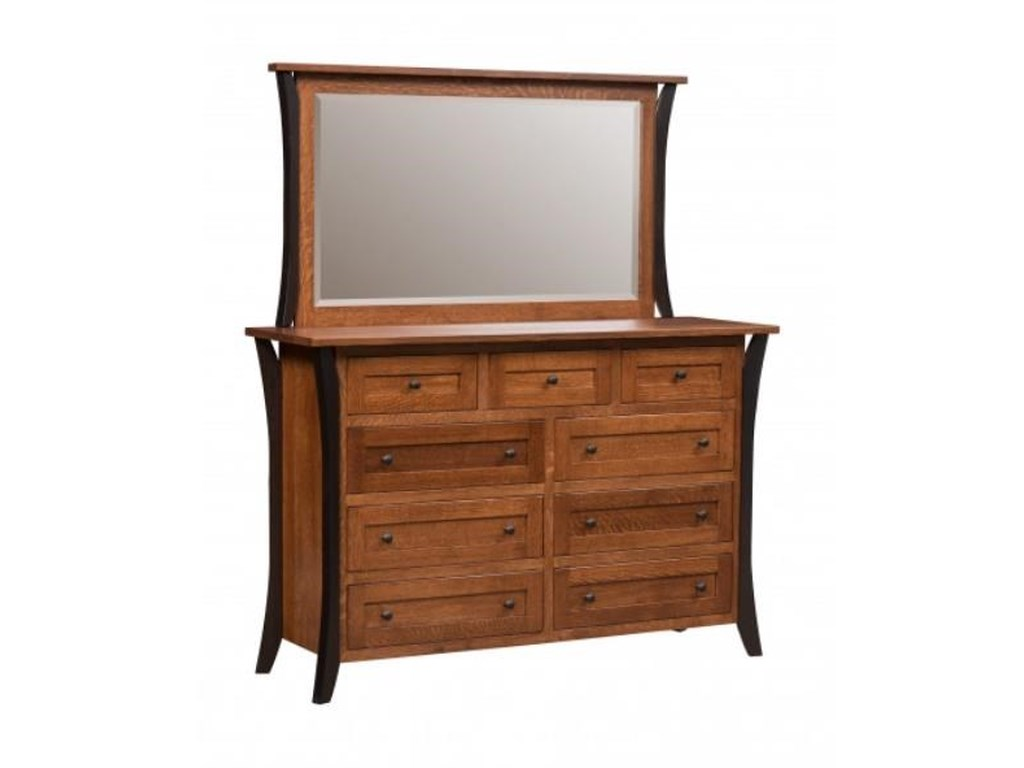 Amish Furniture AlleghenyAmish Dresser & Mirror