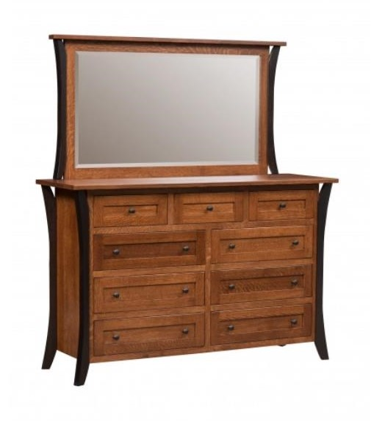 Amish Furniture AlleghenyAmish Dresser & Mirror