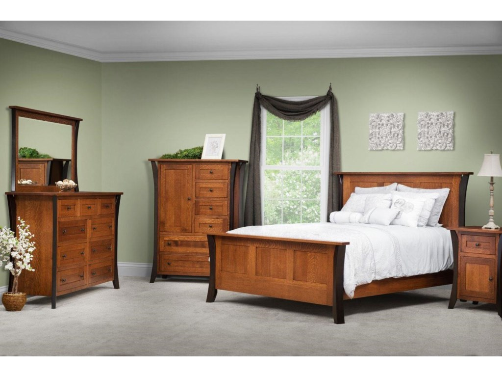 Amish Furniture AlleghenyAmish King Bedroom Group