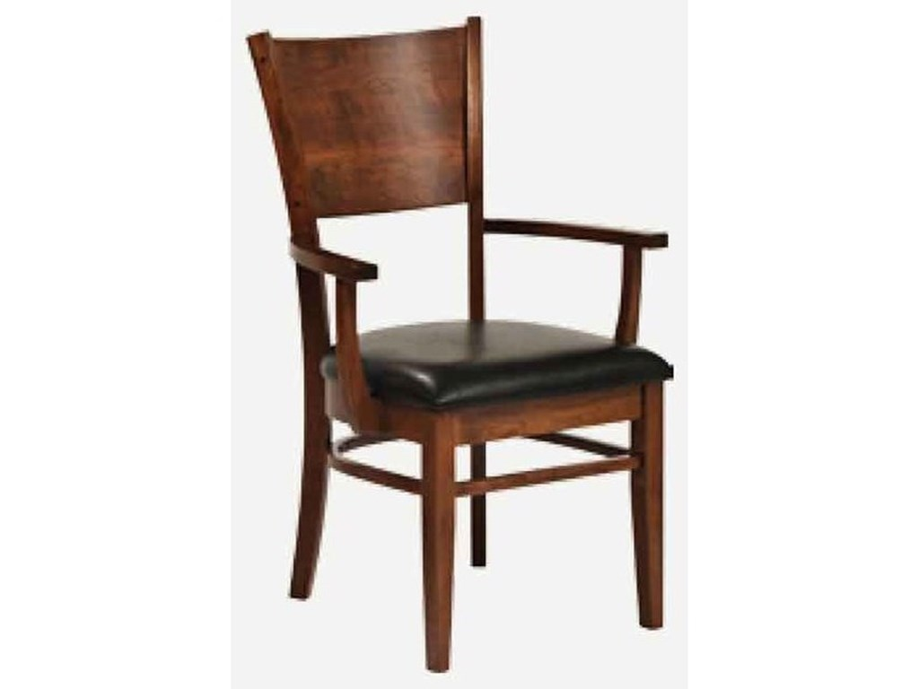 Amish Impressions by Fusion Designs AmericanaArm Chair - Leather Seat