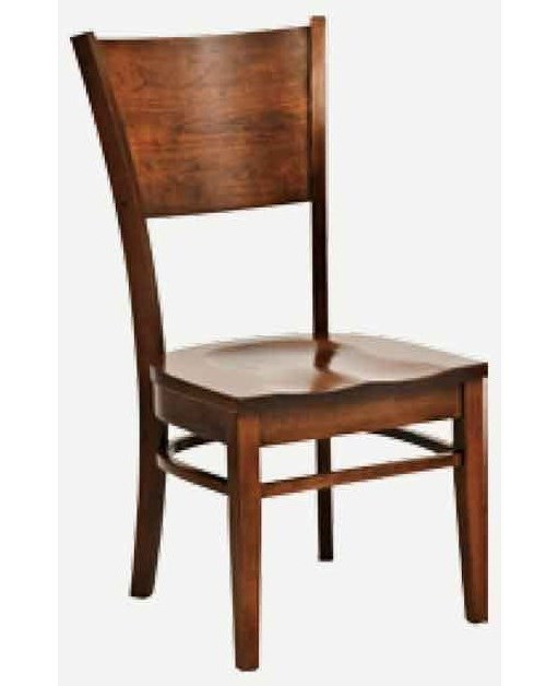 Morris Home AmericanaSide Chair - Leather Seat