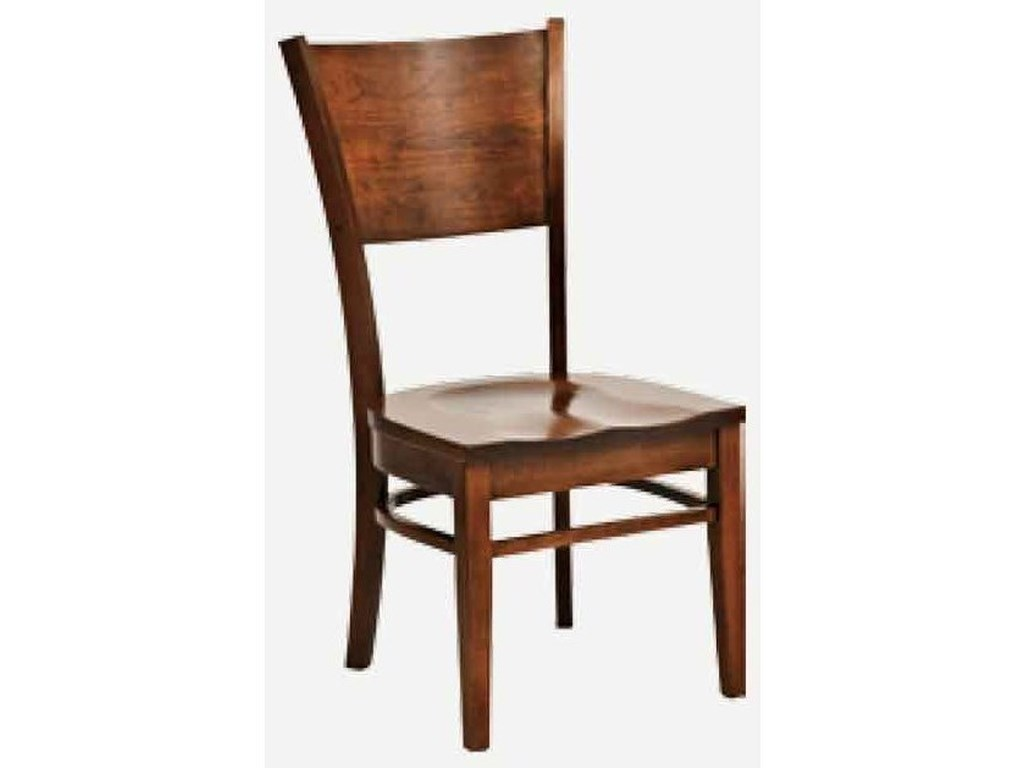 Amish Impressions by Fusion Designs AmericanaSide Chair - Wood Seat