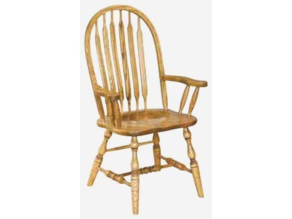Amish Impressions by Fusion Designs AngolaCustomizable Solid Wood Arm Chair