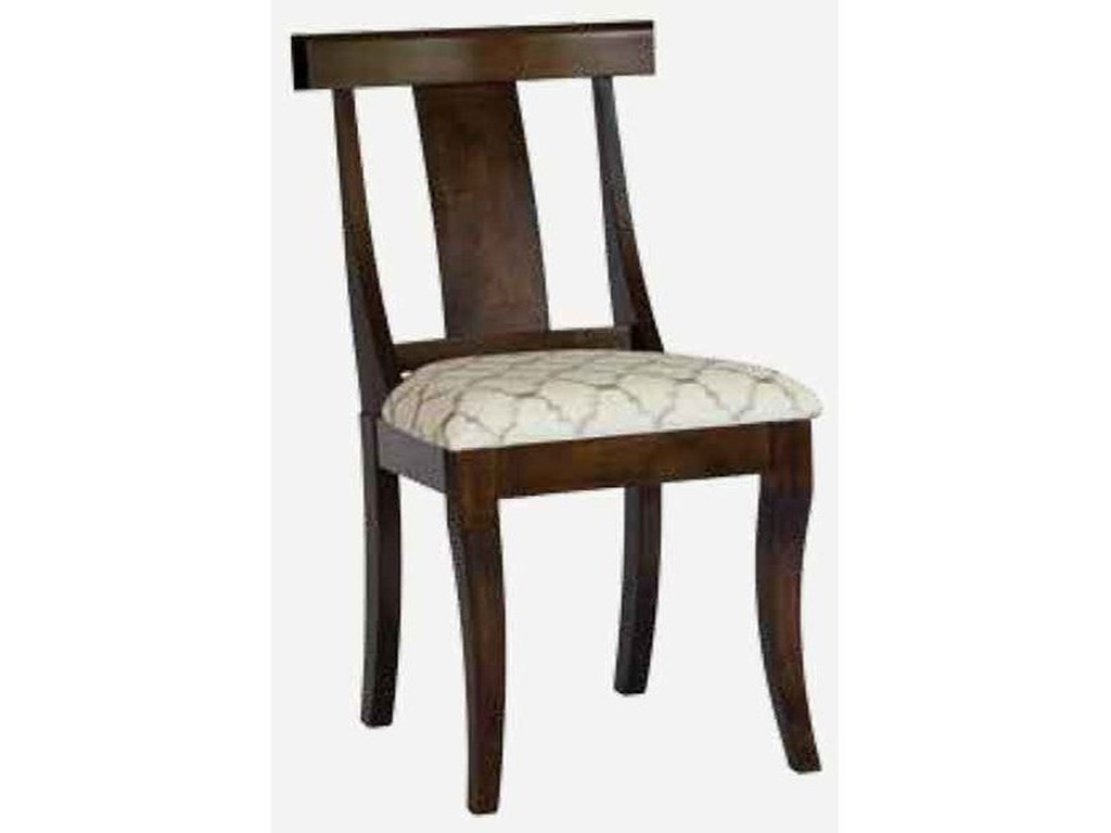 Amish Impressions by Fusion Designs ArabellaCustomizable Side Chair - Wood Seat