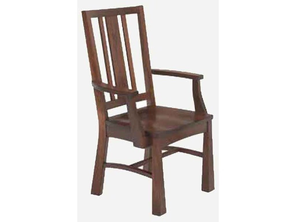 Morris Home Arts and CraftsArm Chair - Wood Seat
