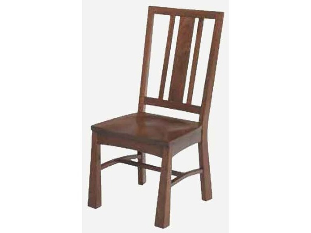 Amish Impressions by Fusion Designs Arts and CraftsSide Chair - Leather Seat