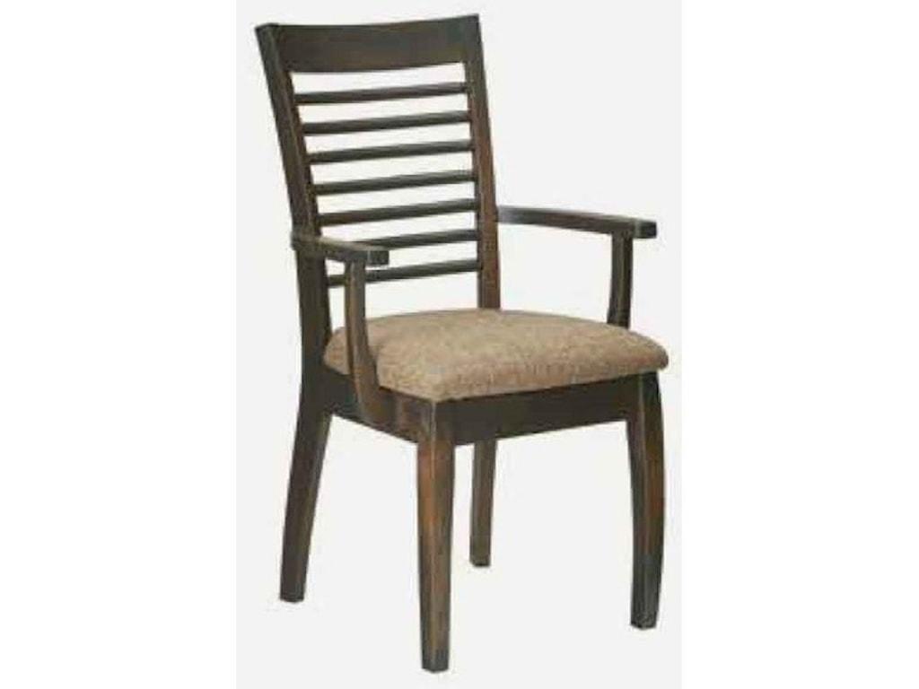 Amish Impressions by Fusion Designs AuroraArm Chair - Wood Seat