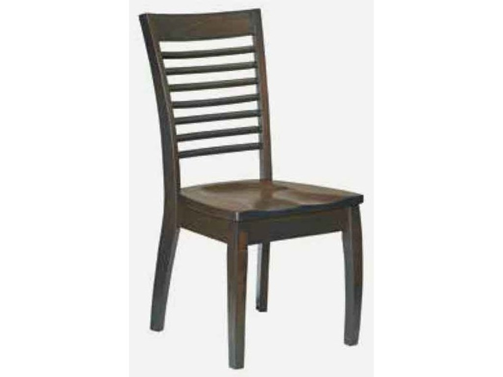 Amish Impressions by Fusion Designs AuroraSide Chair - Wood Seat