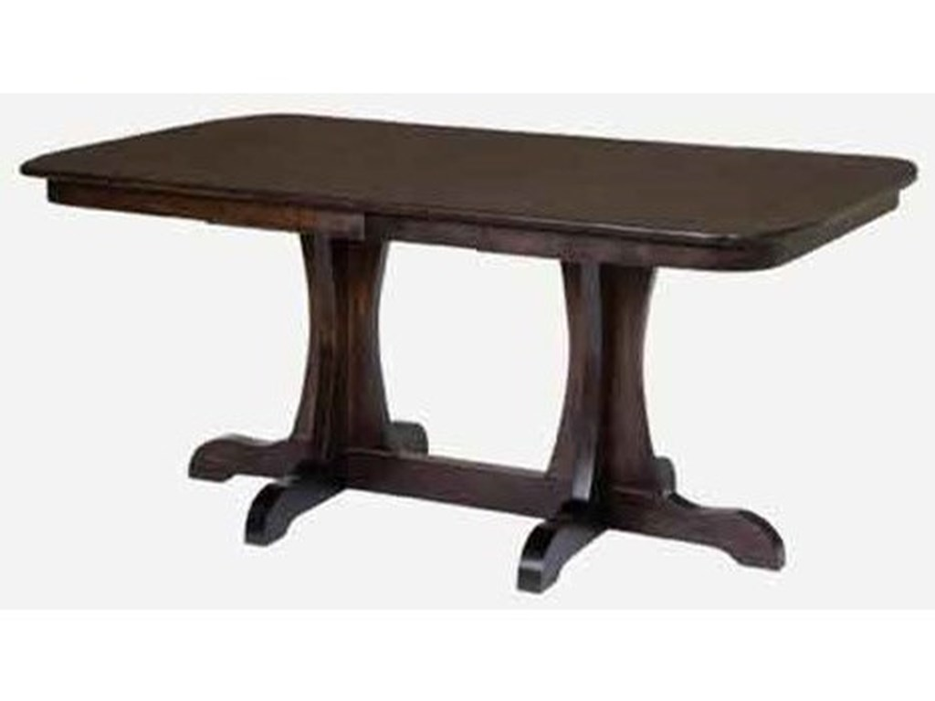 Amish Impressions by Fusion Designs BridgeportCustomizable Rectangular Dining Table