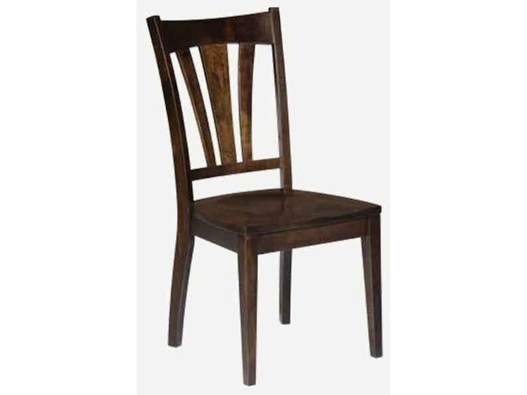 Amish Impressions by Fusion Designs BridgeportCustomizable Solid Wood Side Chair - Fabric