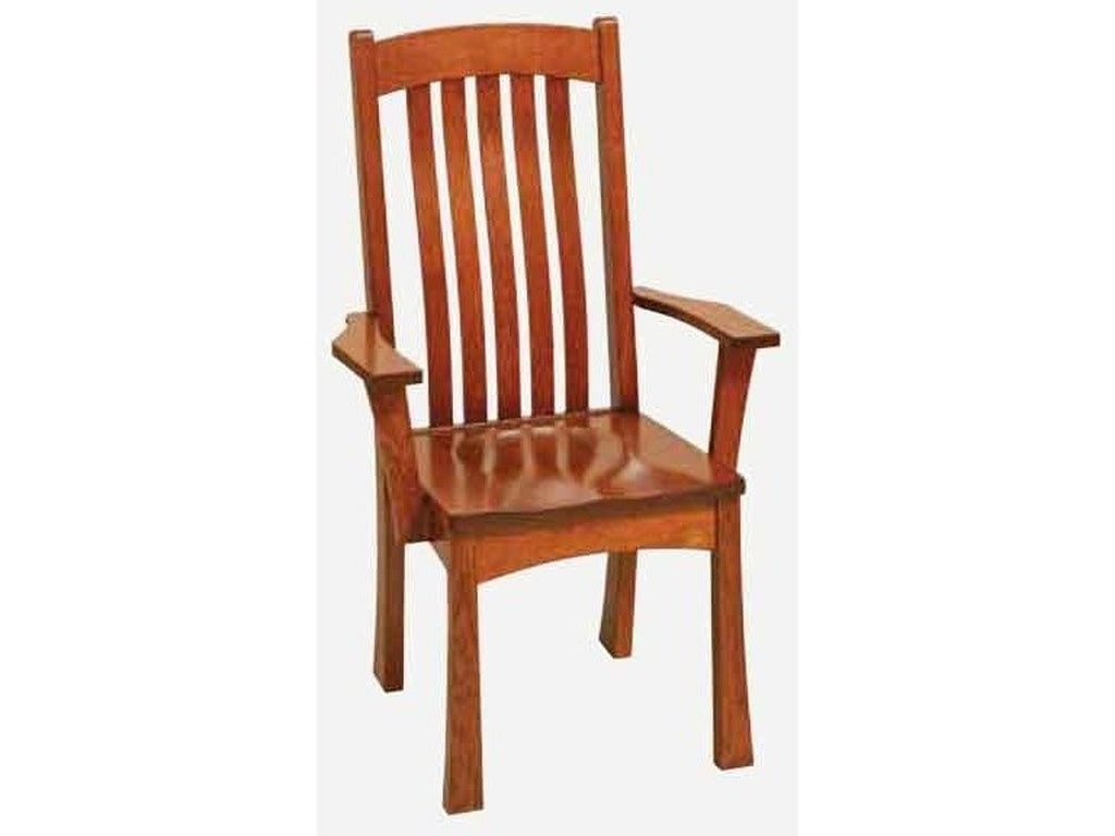 Amish Impressions by Fusion Designs BrighamArm Chair - Wood Seat