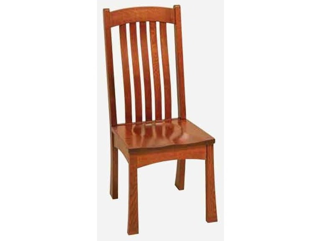 Morris Home BrighamSide Chair - Leather Seat