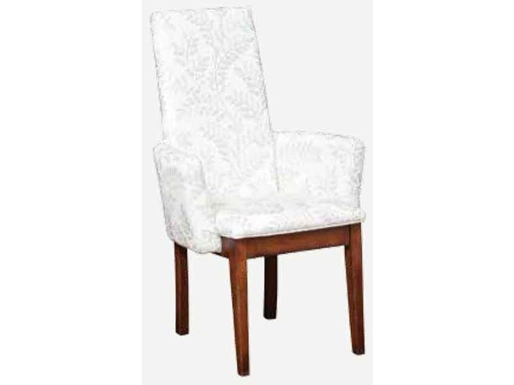 Amish Impressions by Fusion Designs BungalowParson Arm Chair - Leather Seat