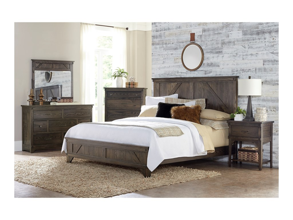 Amish Impressions by Fusion Designs Cedar LakesQueen Bedroom Group