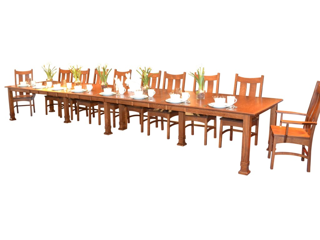Shown with Dining Table with Leaves and Side Chairs