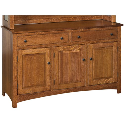 Indiana Amish Franklin Dining Buffet with 2 Drawers and 3 Doors