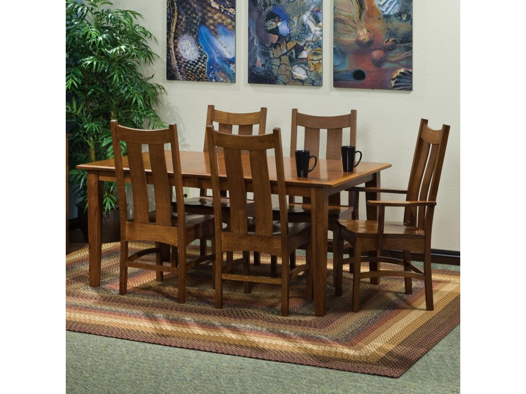 Indiana Amish Franklin Amish Table 4 Chairs Walker S Furniture