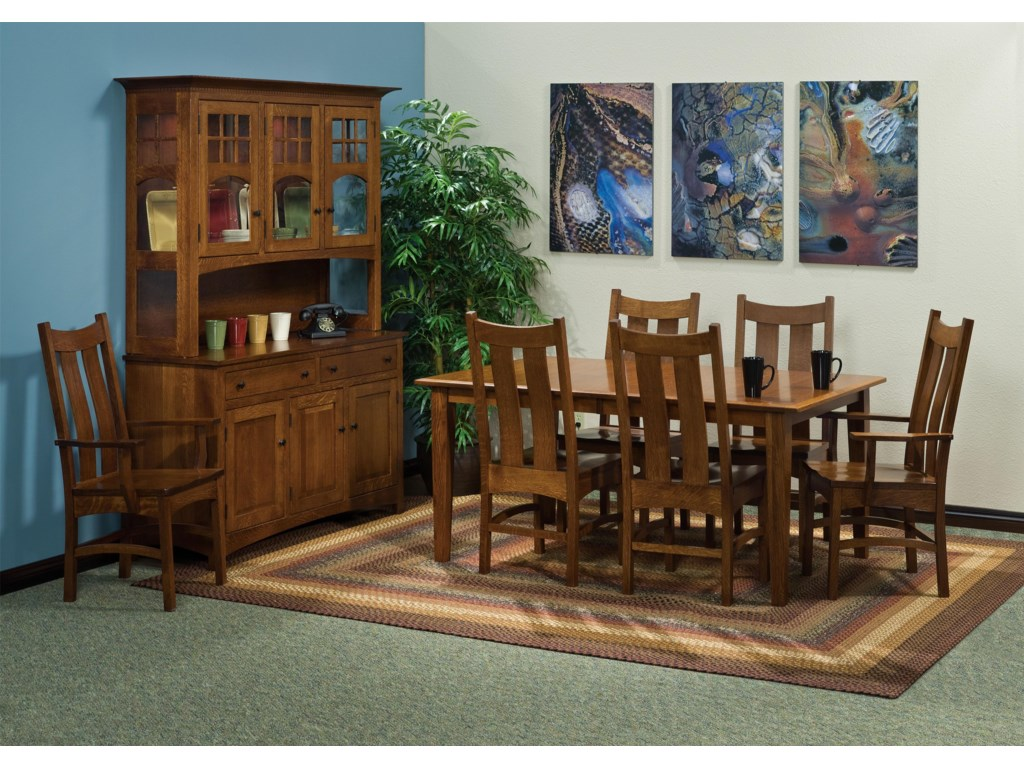 Indiana Amish FranklinFranklin Amish Table + 4 Chairs