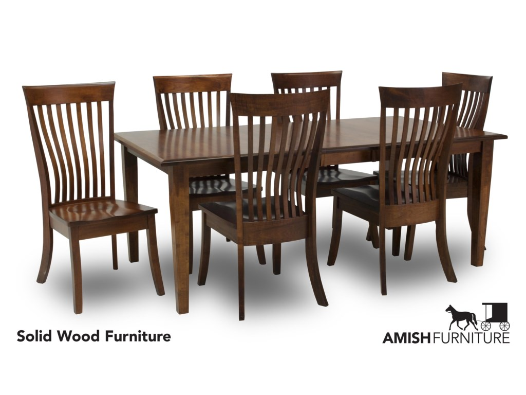 Amish Impressions by Fusion Designs Classic 7 Piece Dining Set with ...