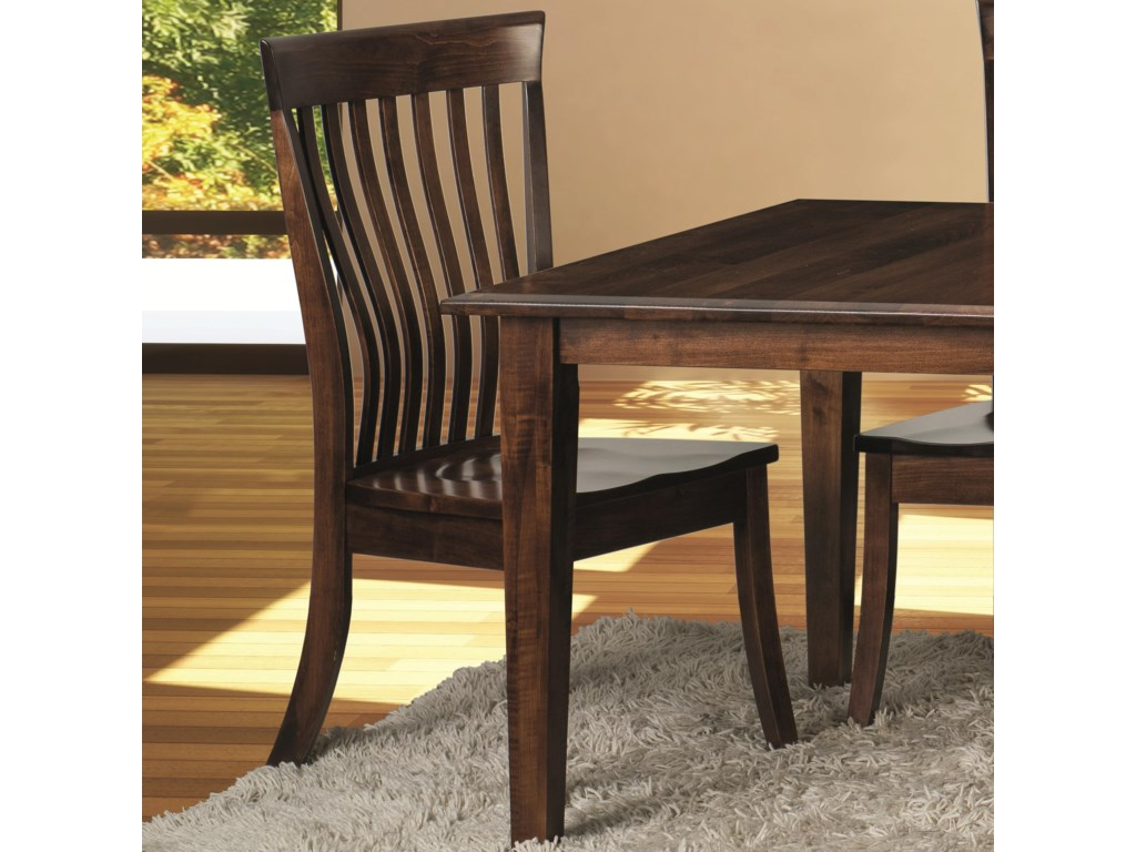 Classic Kennebec Side Chair with Slat Back | Morris Home | Dining ...