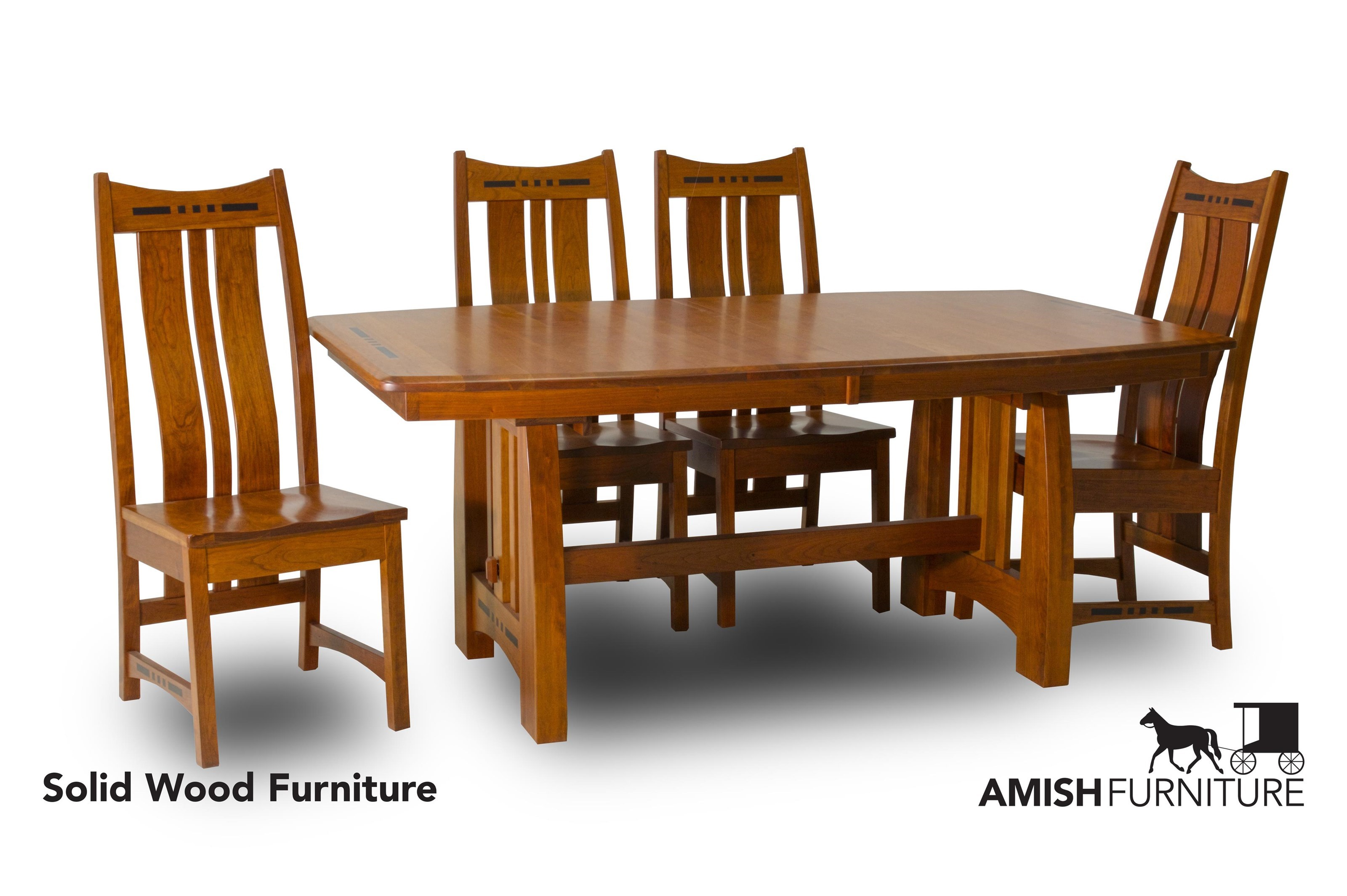 Amish Impressions By Fusion Designs Hayworth5 Piece Dining Set With Slat  Back Chairs ...