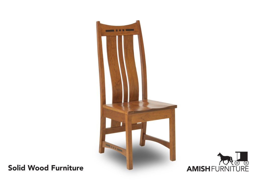 Amish Impressions by Fusion Designs HayworthSide Chair with Steam Bent Back