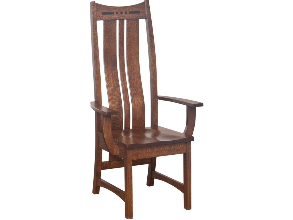 Amish Impressions by Fusion Designs HayworthHigh Back Arm Chair
