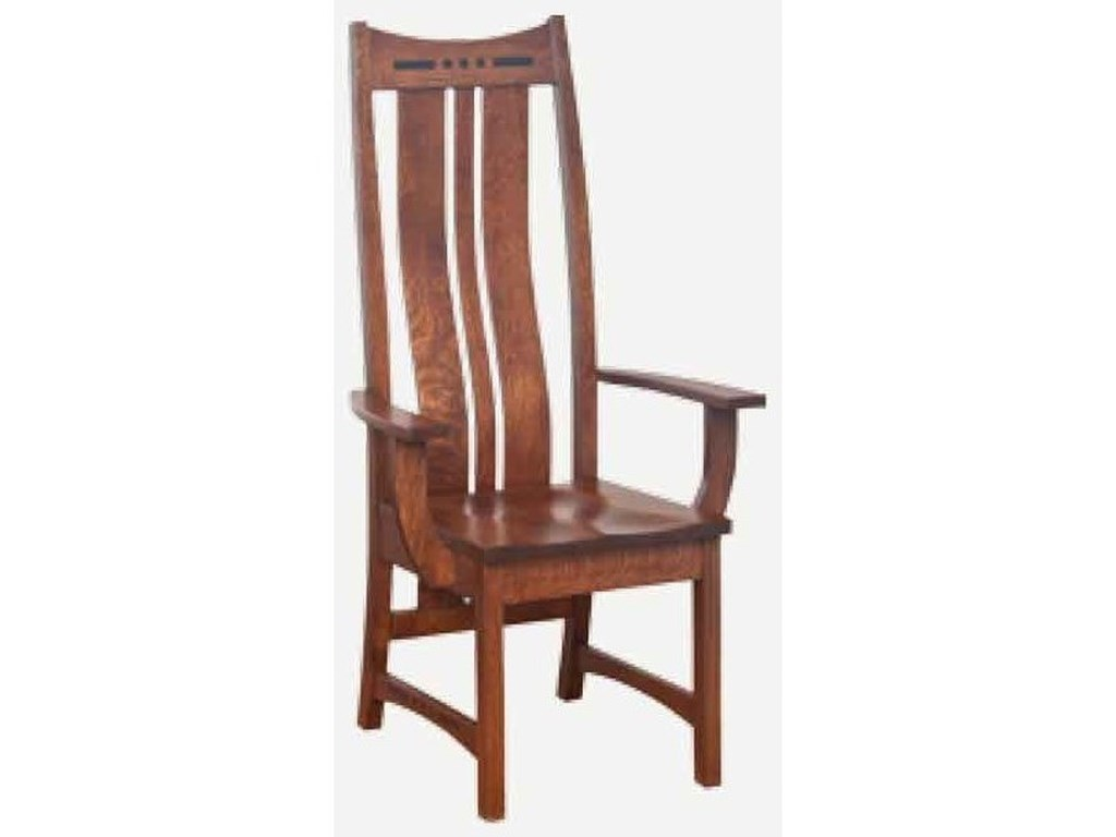 Amish Impressions by Fusion Designs HayworthHigh Back Arm Chair - Leather Seat