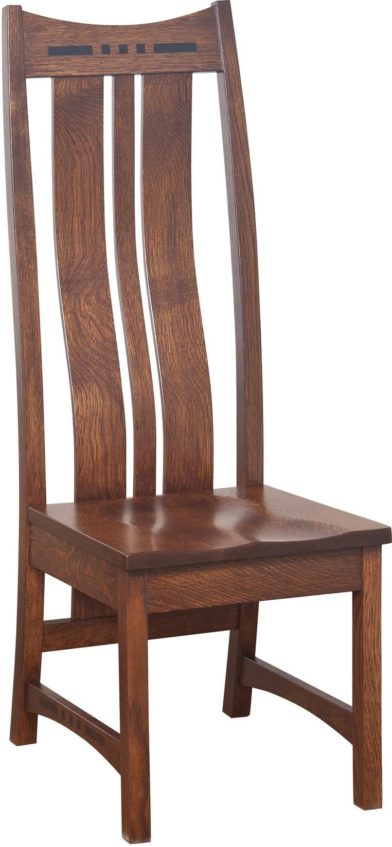 Charmant Indiana Amish Owen High Back Side Chair With Shaped Splat Back