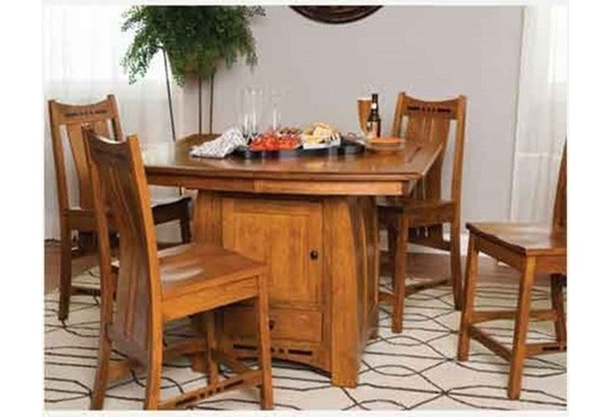 Amish Impressions By Fusion Designs Hayworth Table With Butterfly Leaf Mueller Furniture Dining Tables