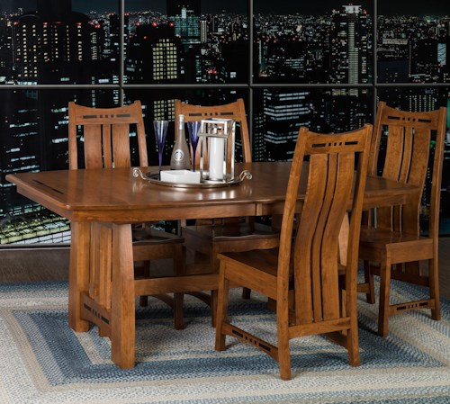 indiana amish owen table 4 chairs walker s furniture dining 5