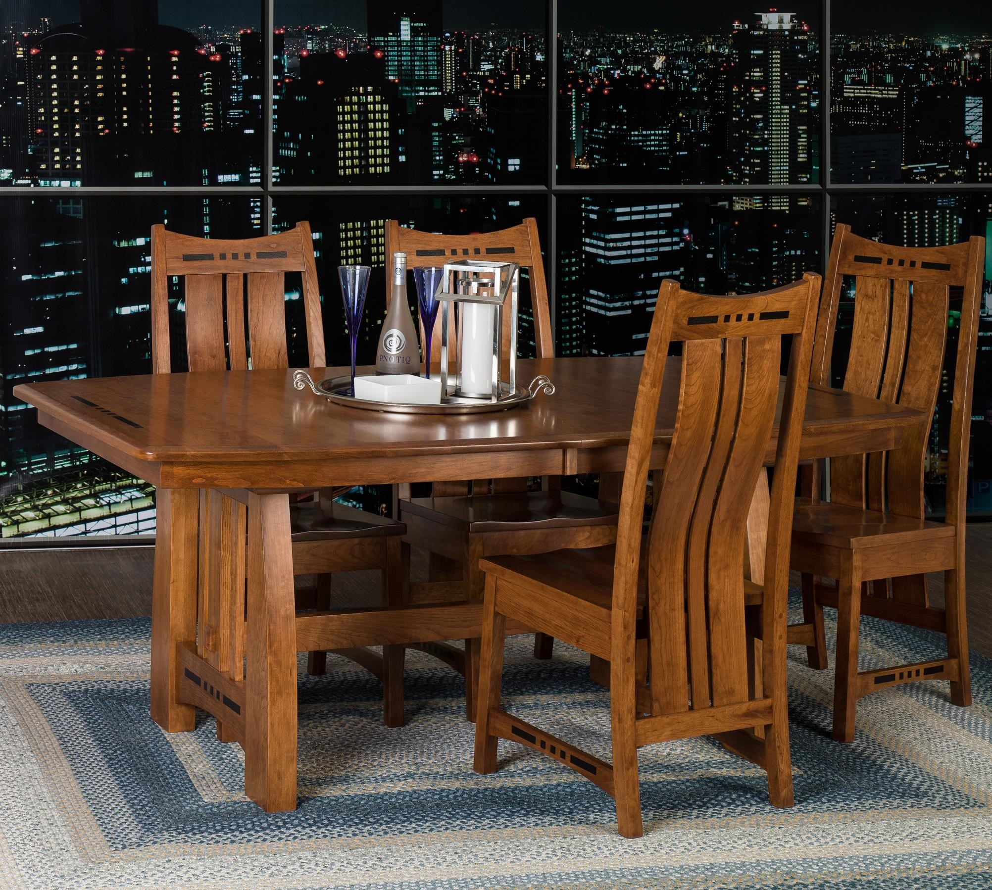 Indiana Amish OwenAmish Owen Table + 4 Chairs ...