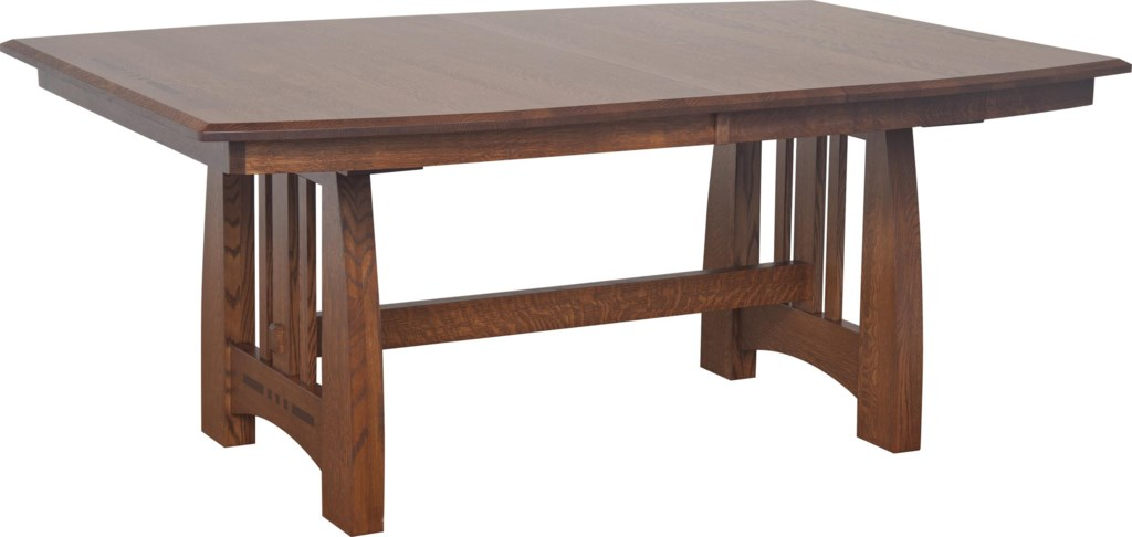 amish impressions by fusion designs hayworth trestle dining table amish impressions by fusion designs hayworth trestle dining table with ebony wood inlays mueller furniture dining tables