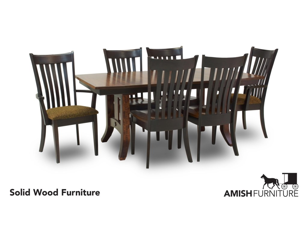 Amish Impressions by Fusion Designs Savannah7 Piece Dining Set